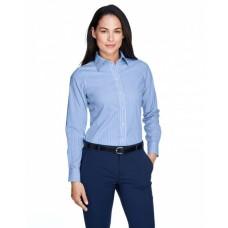 D645W Ladies' Crown Woven Collection™ Banker Stripe - Devon & Jones Women Woven Shirts