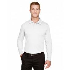 DG20LT CrownLux Performance™ Men's Tall Plaited Long Sleeve Polo - Devon & Jones Mens Polo Shirts