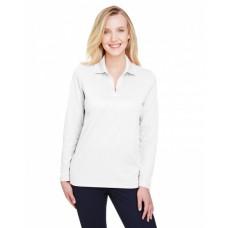 DG20LW CrownLux Performance™ Ladies' Plaited Long Sleeve Polo - Devon & Jones Women Polo Shirts