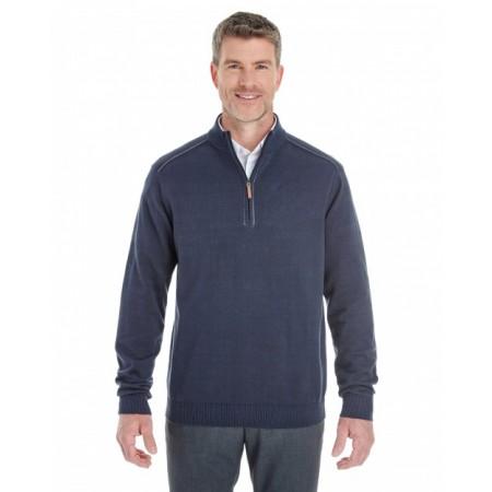 DG478 Men's Manchester Fully-Fashioned Quarter-Zip Sweater - Devon & Jones Mens Sweaters