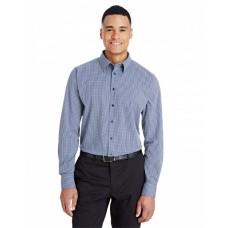 DG535 CrownLux Performance™ Men's Tonal Mini Check Shirt - Devon & Jones Mens Woven Shirts
