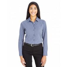 DG535W CrownLux Performance™ Ladies' Tonal Mini Check Shirt - Devon & Jones Women Woven Shirts