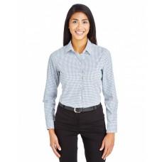 DG540W CrownLux Performance™ Ladies' Micro Windowpane Shirt - Devon & Jones Women Woven Shirts