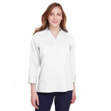 DG560W Ladies' Crown  Collection™ Stretch Broadcloth 3/4 Sleeve Blouse - Devon & Jones Women Woven Shirts