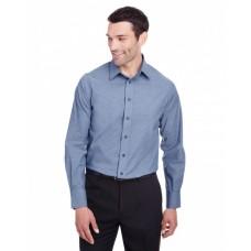 DG562 Men's Crown  Collection™ Stretch Pinpoint Chambray Shirt - Devon & Jones Mens Woven Shirts