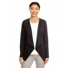 DP465W Ladies' Perfect Fit™ Draped Open Blazer - Devon & Jones Womens Blazers