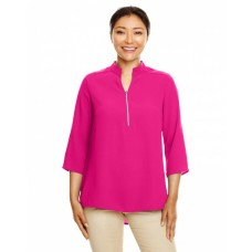DP611W Ladies' Perfect Fit™  3/4-Sleeve Crepe Tunic - Devon & Jones Women Woven Shirts
