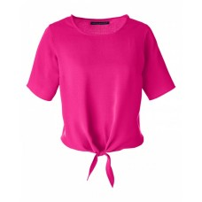 DP617W Ladies' Perfect Fit™ Tie-Front Blouse - Devon & Jones Women Woven Shirts