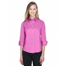 DP625W Ladies' Perfect Fit™ 3/4-Sleeve Stretch Poplin Blouse - Devon & Jones Women Woven Shirts