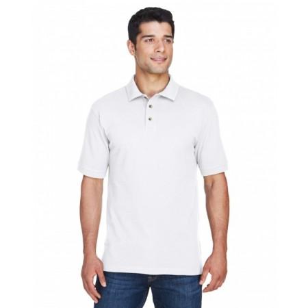 M200 Men's 6 oz. Ringspun Cotton Piqué Short-Sleeve Polo - Harriton Mens Polo Shirts
