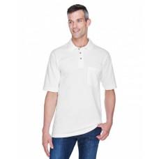 M200P Adult 6 oz. Ringspun Cotton Piqué Short-Sleeve Pocket Polo - Harriton Polo Shirts