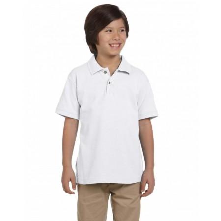 M200Y Youth 6 oz. Ringspun Cotton Piqué Short-Sleeve Polo - Harriton Polo Shirts