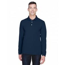 M265L Men's 5.6 oz. Easy Blend™ Long-Sleeve Polo - Harriton Mens Polo Shirts