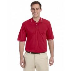 M270 Men's 5.6 oz. Tipped Easy Blend™ Polo - Harriton Mens Polo Shirts