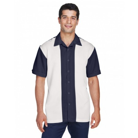 M575 Men's Two-Tone Bahama Cord Camp Shirt - Harriton Mens Woven Shirts