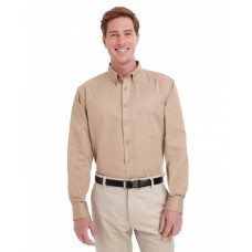 M581 Men's Foundation 100% Cotton Long-Sleeve Twill Shirt withTeflon™ - Harriton Mens Woven Shirts