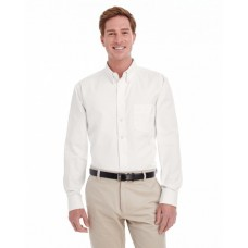 Harriton M581T Woven Shirts  - Men's  Tall Foundation 100% Cotton Long-Sleeve Twill Shirt with Teflon™