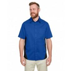 M586T Men's Tall Flash IL Colorblock Short Sleeve Shirt - Harriton Mens Woven Shirts