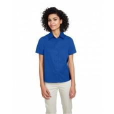 M586W Ladies' Flash IL Colorblock Short Sleeve Shirt - Harriton Women Woven Shirts