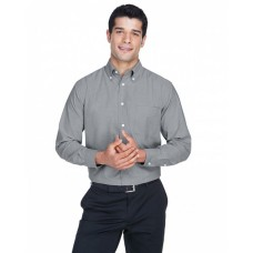 M600 Men's Long-Sleeve Oxford with Stain-Release - Harriton Mens Woven Shirts