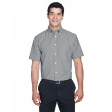 M600S Men's Short-Sleeve Oxford with Stain-Release - Harriton Mens Woven Shirts