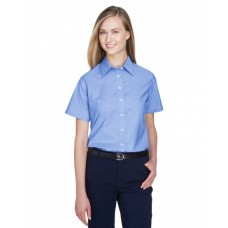 M600SW Ladies' Short-Sleeve Oxford with Stain-Release - Harriton Women Shirts