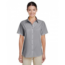 M610SW Ladies' Paradise Short-Sleeve Performance Shirt - Harriton Women Woven Shirts