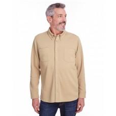 M708 Adult StainBloc™ Pique Fleece Shirt-Jacket - Harriton Jackets