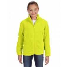 M990Y Youth 8 oz. Full-Zip Fleece - Harriton Jackets