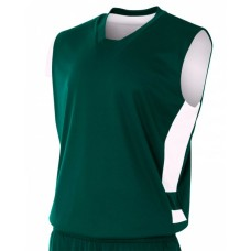 A4 N2349 Adult Reversible Speedway Muscle Shirt