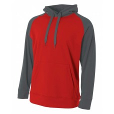 A4 N4234 Men's Color Block Tech Fleece Hoodie