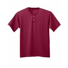 A4 NB3143 Youth Tek 2-Button Henley Jersey