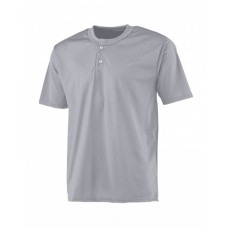 A4 NB4130 Youth 2-Button Mesh Henley Jersey