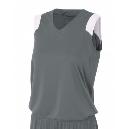 NW2340 Ladies' Moisture Management V Neck Muscle Shirt - A4 Womens T Shirts