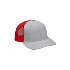 PV102 Heather Woven/Soft Mesh Trucker Cap - Adams Caps