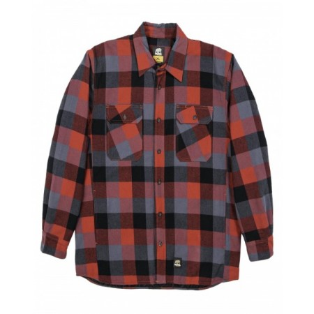 SH69T Men's Tall Timber Flannel Shirt Jacket - Berne Mens Jackets