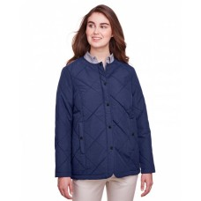 UC708W Ladies' Dawson Quilted Hacking Jacket - UltraClub Womens Jackets