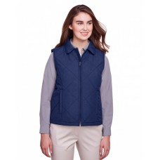 UC709W Ladies' Dawson Quilted Hacking Vest - UltraClub Womens Vests