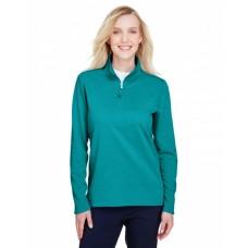 UC792W Ladies' Coastal Pique Fleece Quarter-Zip - UltraClub Jackets