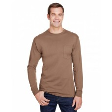 W120 Adult Workwear Long-Sleeve Pocket T-Shirt - Hanes T Shirts