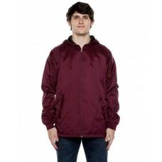 WB103RB Unisex Nylon Full Zip Hooded Jacket - Beimar Drop Ship Jackets